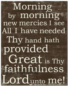 New Mercies in the Morning