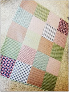 The same pattern is on the plaid throw blanket.