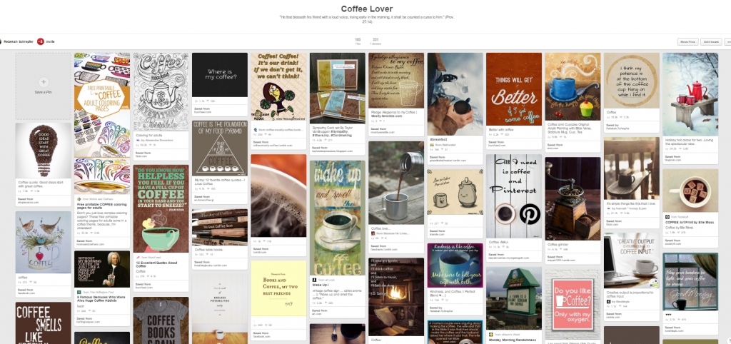 Coffee Pinterest Board