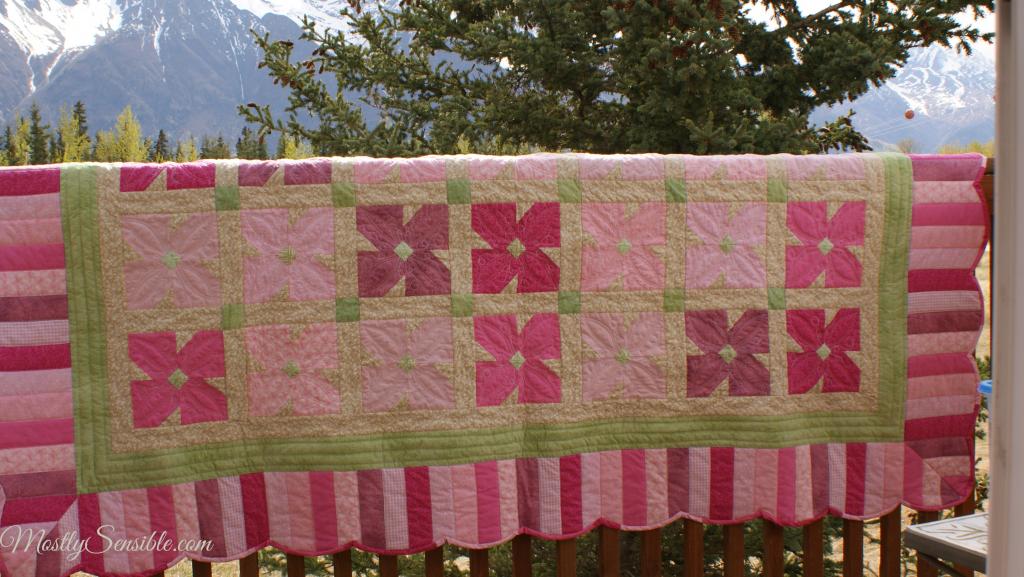 Pink African Violet Quilt
