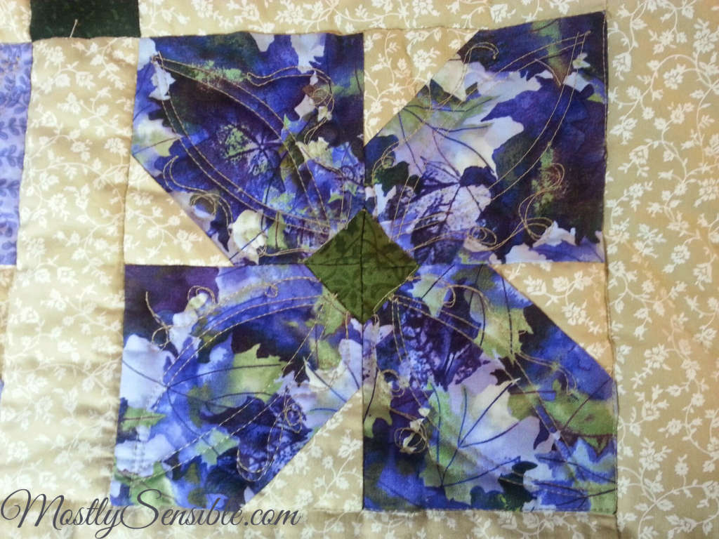 Purple African Violet Block