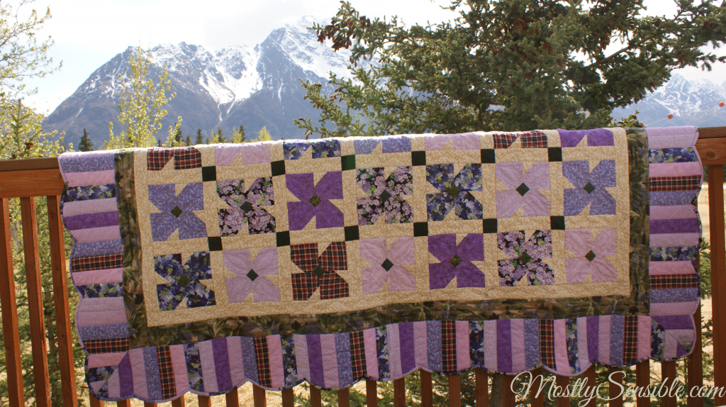 Purple African Violet Quilt