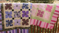 Twin African Violet Quilts